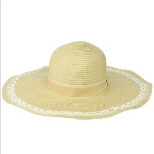 Collection XIIX | tan crochet sun hat | OS | NWT